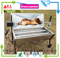 commercial outdoor kitchen/restarant stainless steel bbq gas grill/gas bbq range cooker for pig lamp duck goat beef