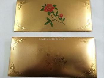 Gold Foil Envelopes Promotional Gifts Wedding Card Bag