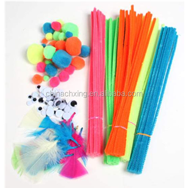 Chenille Craft Work For School Kids With Different Types