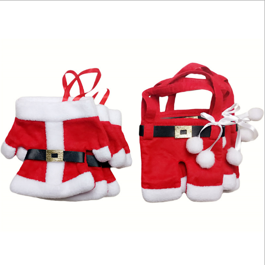 SPWE-411 amazing! Christmas Decoration Santa Silverware Holders Pockets Lovely Cute Dinner Decor