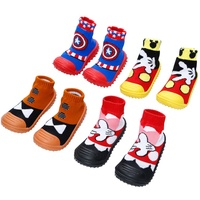 wholesale assorted styles knitted rubber sole baby shoe socks
