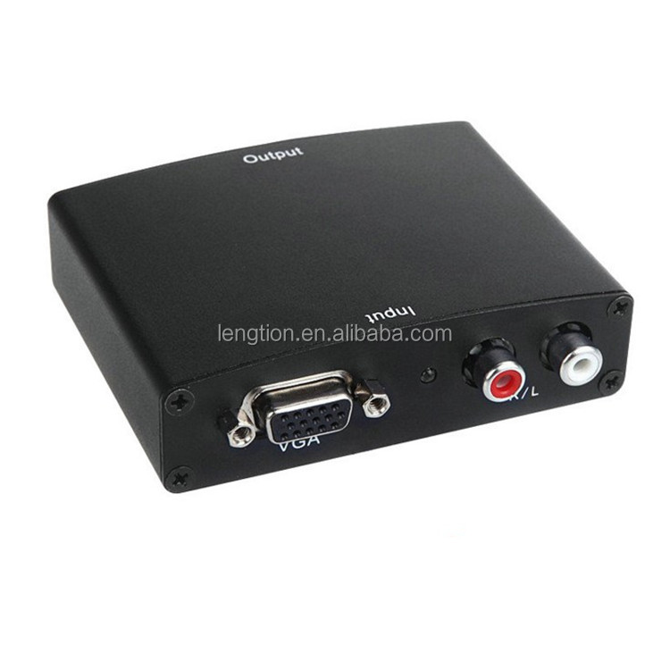 VGA to HDMI Converter Box Analog to Digital Audio Video Converter For PC Laptop to HDTV Projector