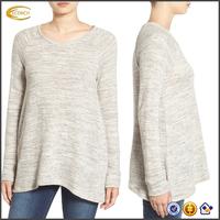 Ecoach 2016 High Quality 77% Cotton 23% Viscose Raglan Long Sleeve Womens V-neck sweatshirts