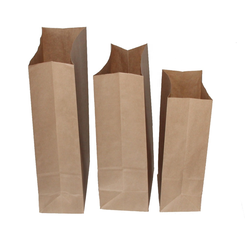 Promotional 4# Brown And White 70gsm Kraft Paper Bag For Food