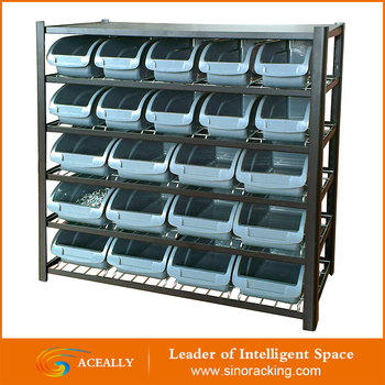 Chinese Supplier Rivet Rack With Bins Plastic Storage Shelving Small Parts  Storage Drawers