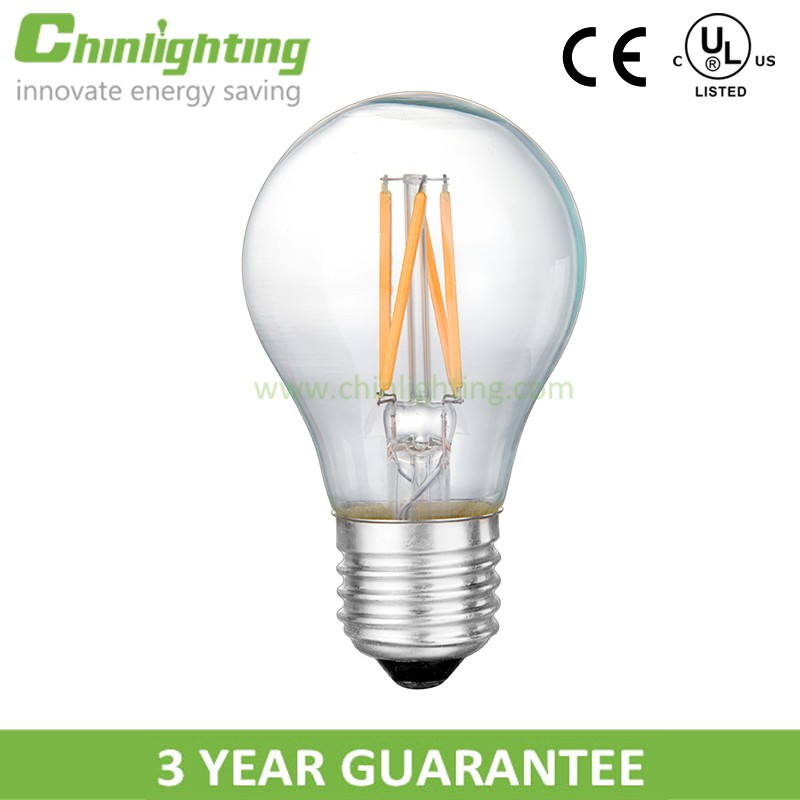 Illumination LED filament lamp A55 6W E27 DIMMABLE/ NON-DIMMABLE