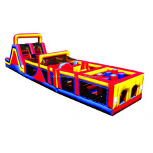 Factory outlet fine craftsmanship inflatable slide with obstacle