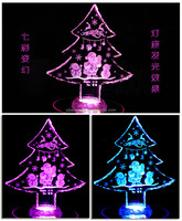 small order bulk newest crystal christmas trees for sale with led base