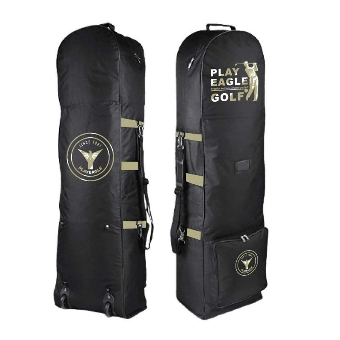69385413e4 PLAYEAGLE Golf Travel Bag Cover with Wheels Foldable Double Zipper  Lightweight Trolley Rain Cover with Password
