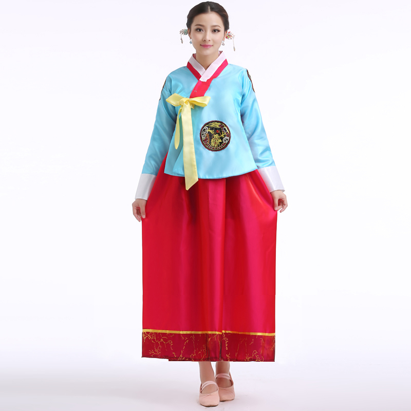 Get Quotations · Hanbok Korean Traditional dresses Dances Clothing For Women  National Costume Girls Dress Traditional Folk Dance Costumes 72471450f203