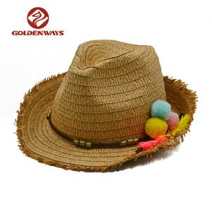 cb7f70d2a5a96 Pom Pom Straw Hat Wholesale