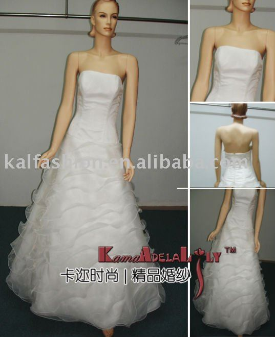 EB1001&EB640organza pieces ruffle wedding dress royal dress