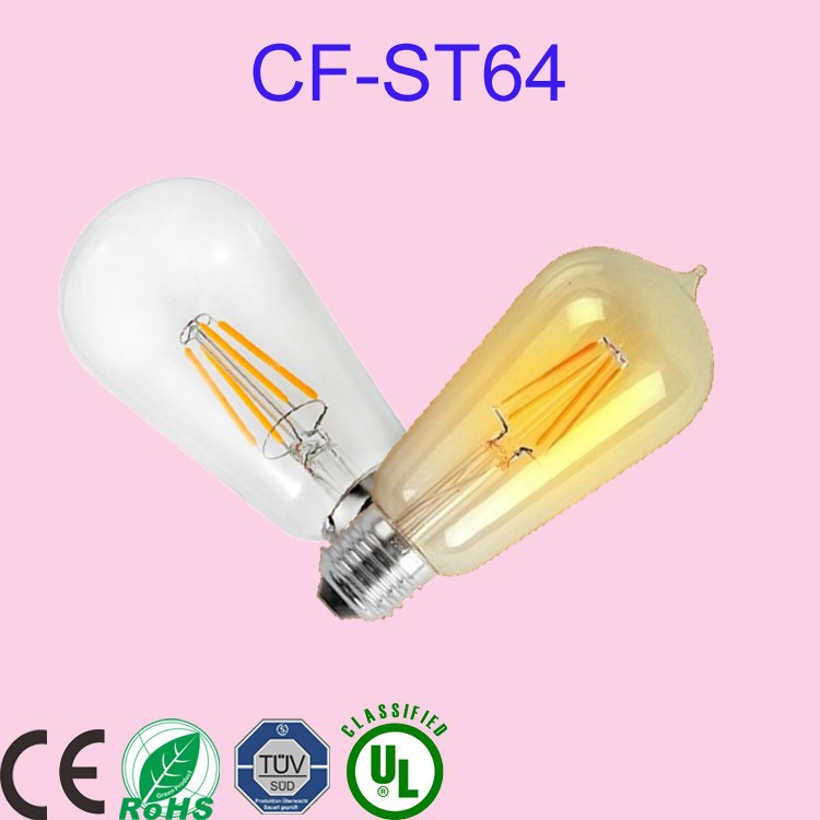 E27 ST 64 LED Filament Lamp Bulb 3000K Manufacturer looking for a partner in Russia