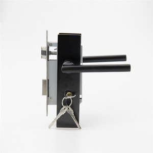 Factory direct sales Guangzhou lever door lock black panel pvc door lock