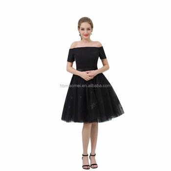 Short Black Evening Dress