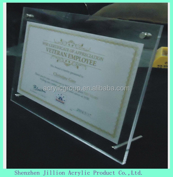 Double Side Acrylic Frameless Picture Frame With Screw Buy Acrylic