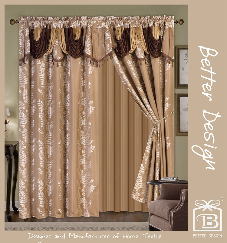 Luxury Classical Hotel Window Curtain Design With Dubai