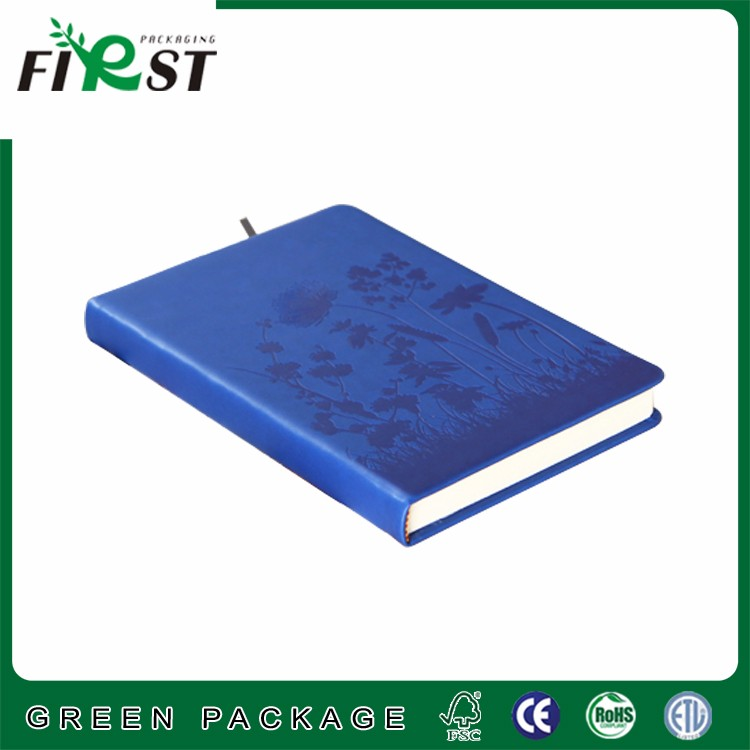 2016 new Custom gift A6 A5 journal diary PU leather cover notebook with ribbon made bookmark logo customized accept