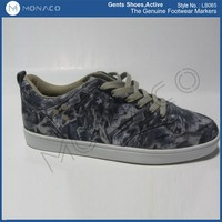 Popular men's scrawl printing fashion skate shoes, gent's comfortable active shoes