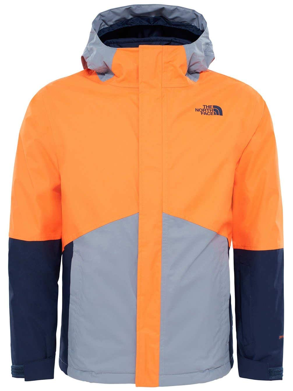4b33c9d062f0 Get Quotations · NORTH FACE LARGE BOYS BOUNDARY TRICLIMATE POWER ORANGE