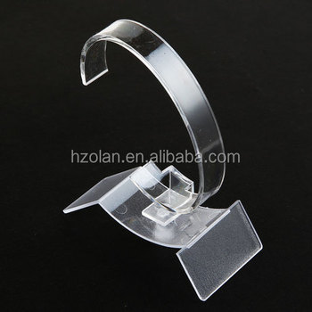 High Quality Clear Plastic Watch Display Rack C Ring Display Stand