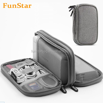 Double Layers Travel Gadget Organizer Electronics Accessories Carry Bag Digital Storage Bags