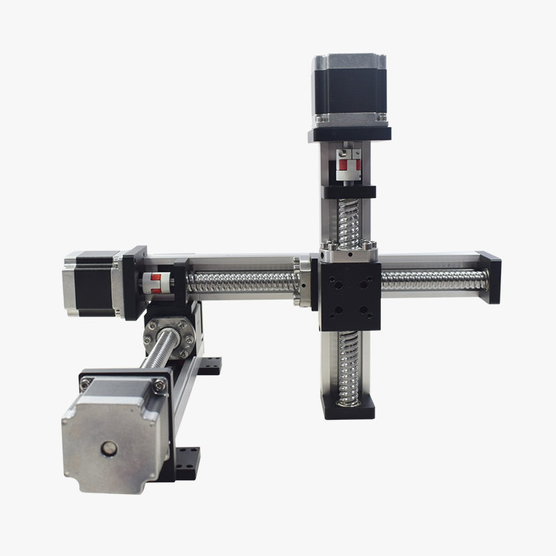 XYZ Axis Gantry Robot CNC Llinear Module Actuator Motorized Linear Stage  Table Slide Motion System For Laser Cut