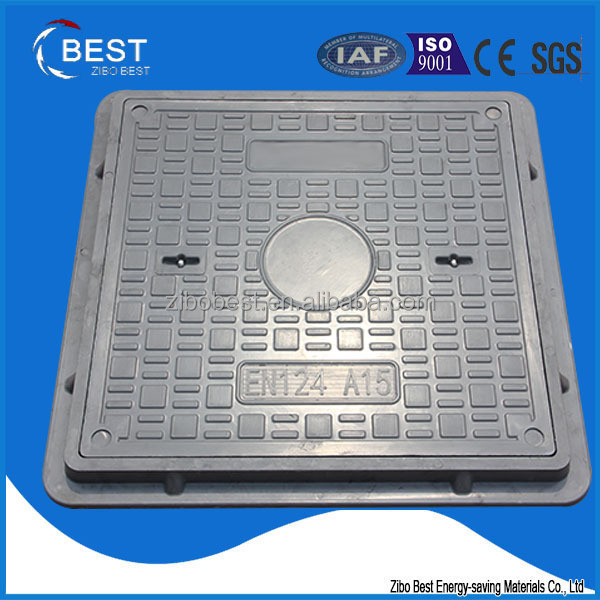 EN124 A15 smc battery terminal composite water tank manhole cover and frame