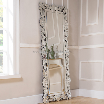 Narrow Wall Mirror beautiful and clear narrow full length with antique etched wall