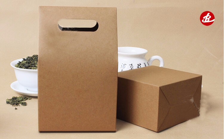 Factory Wholesale Price Custom Printed Recycle Shopping Gift Brown Kraft Paper Bag