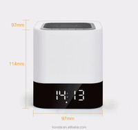 With Touch LED Lamp MP3 Player,Built in Alarm Clock and Hands-free Function BT Speaker