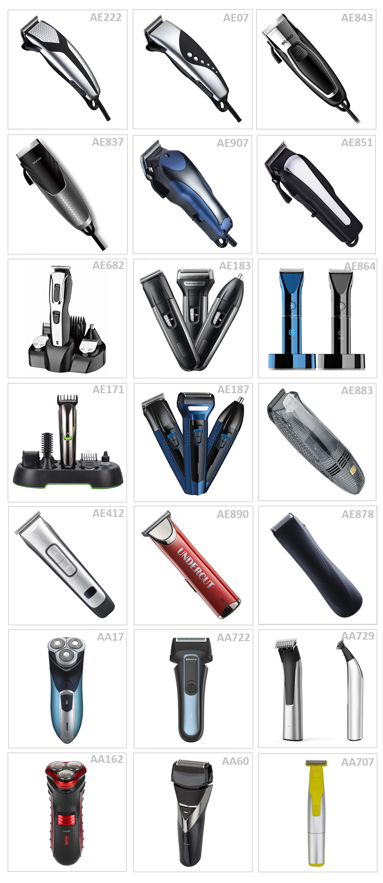 Digital barber mens cordless wholesale hair trimmer electric hair clipper set professional