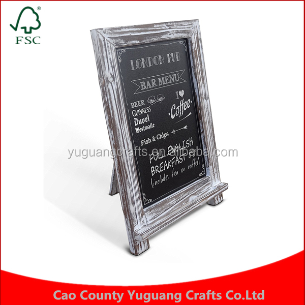 Manufacture price simple Wall hanger Rustic Whitewashed Tabletop Chalkboard