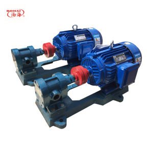 Hydraulic 2CY portable oil transfer pump, oil delivery booster pump gear pump
