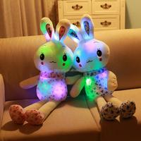 LED light rabbits toys stuffed plush toys rabbits kid's gifts shine rabbits LED toys