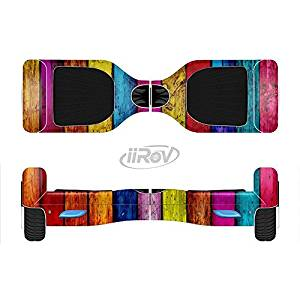 The Neon Color Wood Planks Full-Body Wrap Skin Kit for the iiRov HoverBoards and other Scooter (HOVERBOARD NOT INCLUDED)