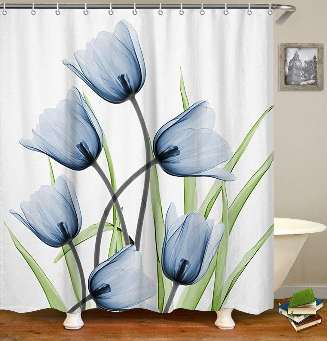Cheap Blue Floral Shower Curtain Find Blue Floral Shower