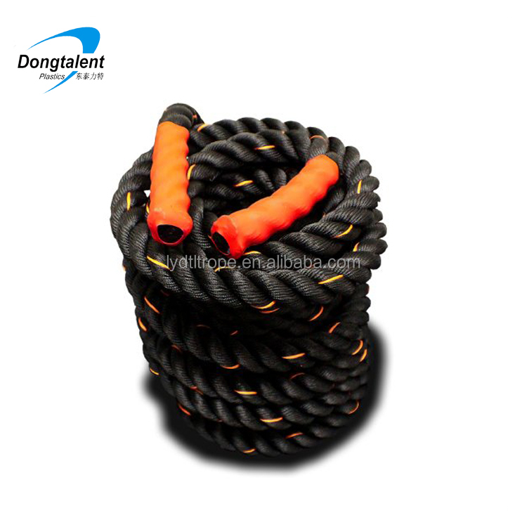 15m black white twisted battle rope power training rope with cheap price