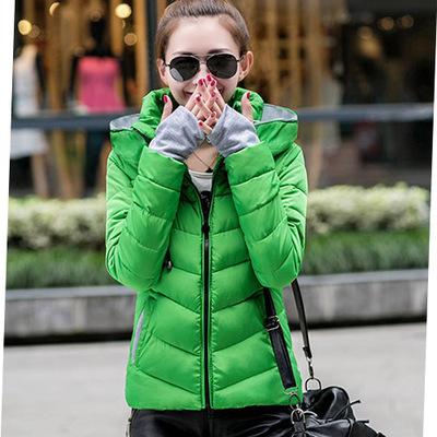 Зима куртка хлопок короткая, ватные куртка женское осень и женщины приталенный - мягкий верхняя одежда девочки зима пальто 10 цветов