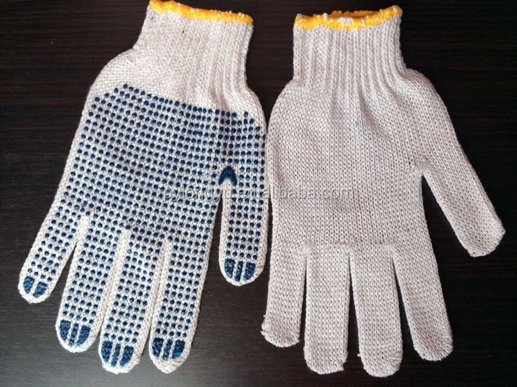 High quality Pvc Dotted Industrial Safety Gloves blue black or yellow color