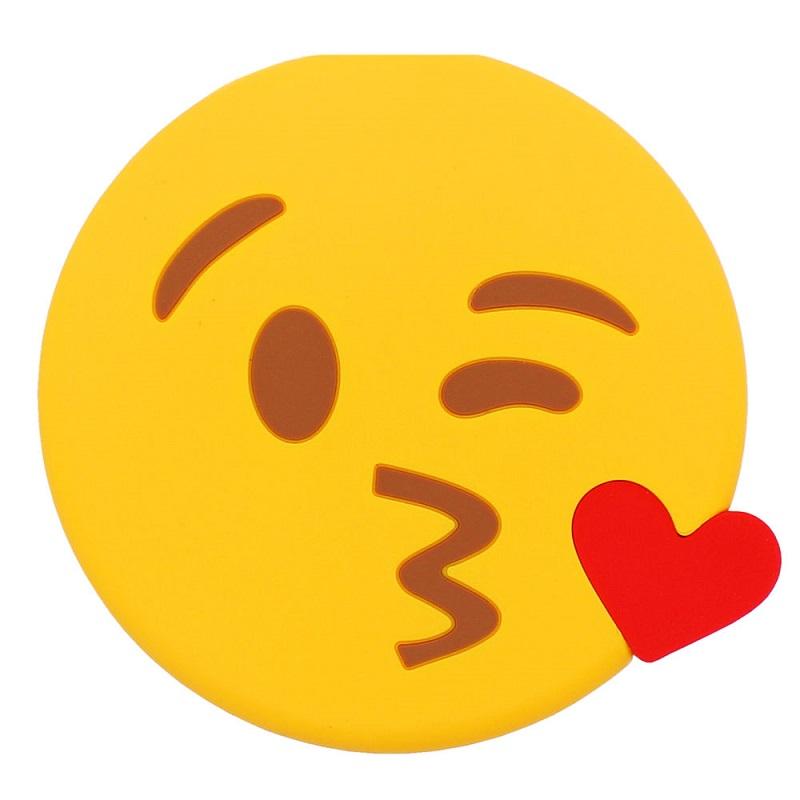 2600 Mah Baiser Emoji Mignon Dessin Animé Drôle Pvc Batterie Externe De Secours De Chargeur Portatif Banque D Alimentation Pour Iphone Buy 2600 Mah
