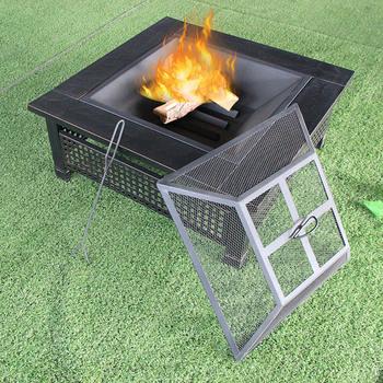 34 Inch Square Backyard Garden Treasures Bbq Outdoor Brazier Fire Pit