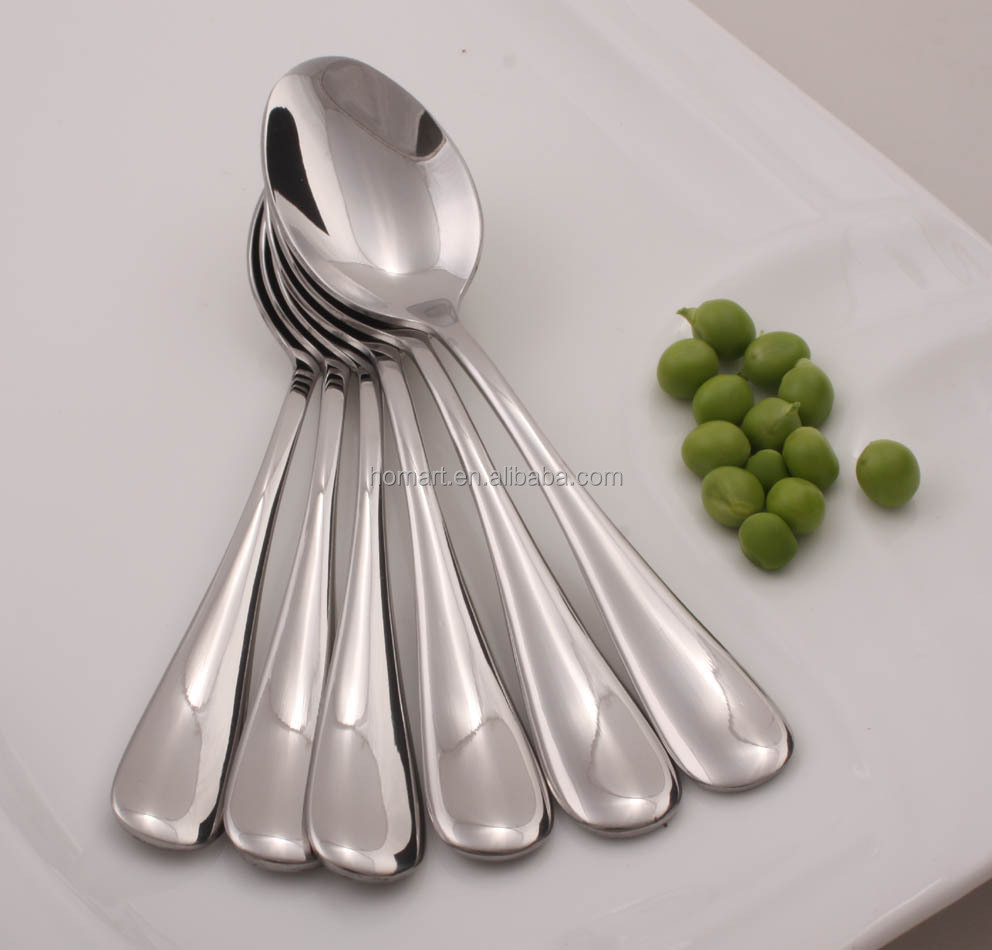 mirror polish hotel Stainless steel bulk metal spoons