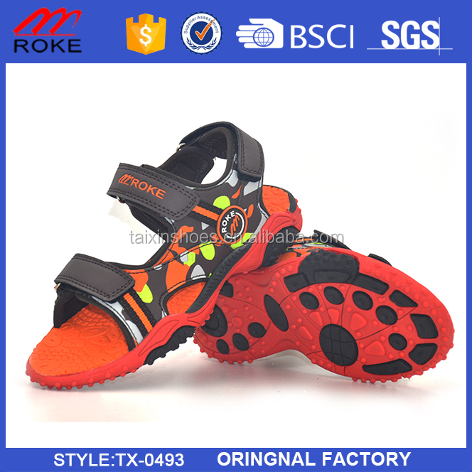 customize tpr rubber sole beach sandal shoes for boys