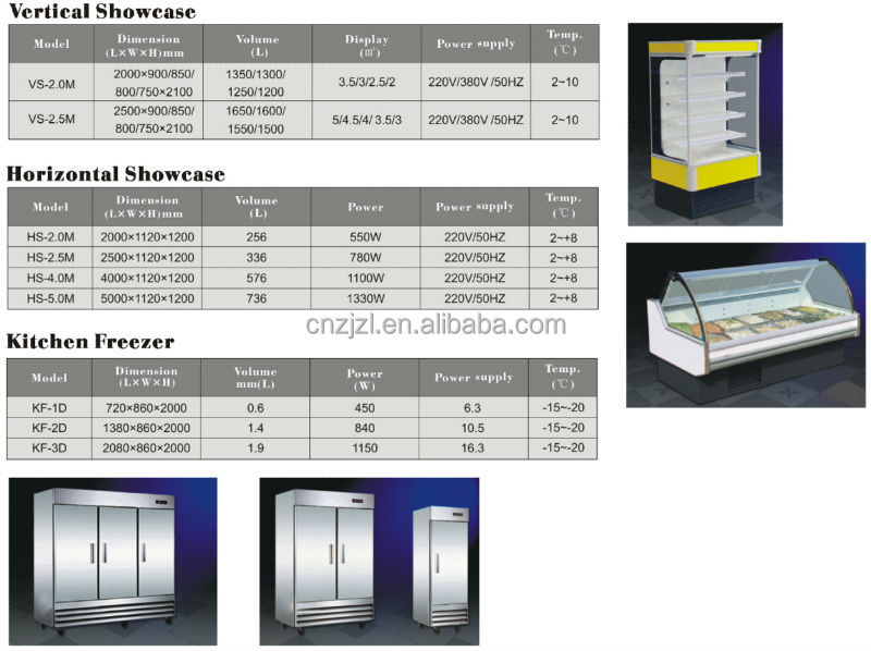 RESOUR Commercial Stainless Steel Upright Fridge Freezer, Kitchen Freezer