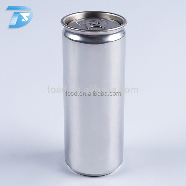 330ml sleek plain empty aluminum easy open cans for water soda cola can