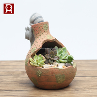 Roogo home lovely Cat toy resin Crafts Animal Flower Pots for Succulent Plants online shop China