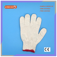 SHINEHOO White Cotton Knit Work Out Gloves Bulk