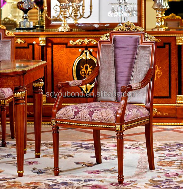 0038 High Quality European Solid Wood Luxury Classic Royal Dining ...