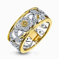 Two tone 18k solid gold jewelry wholesale